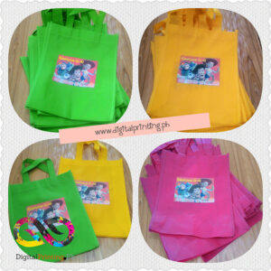Eco Bag Loot Bag Printing Sling handle, Full Color. Philippines Delivery