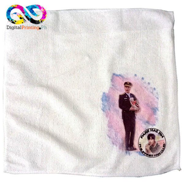 custom printed face towel