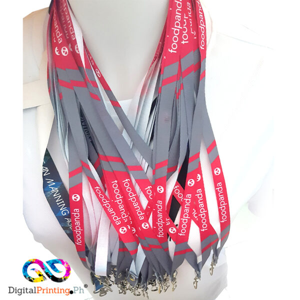 white sublimation lanyard with full color print