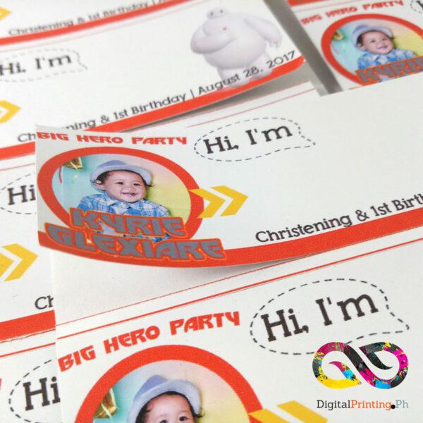 sticker name tag printing