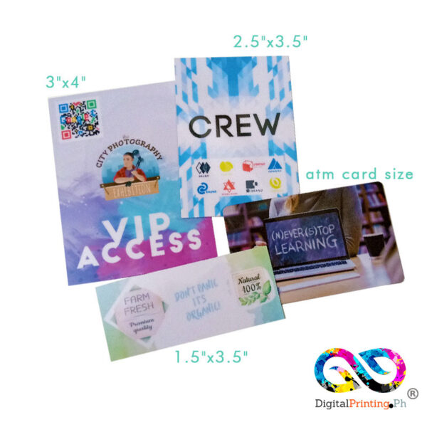 custom size pvc cards