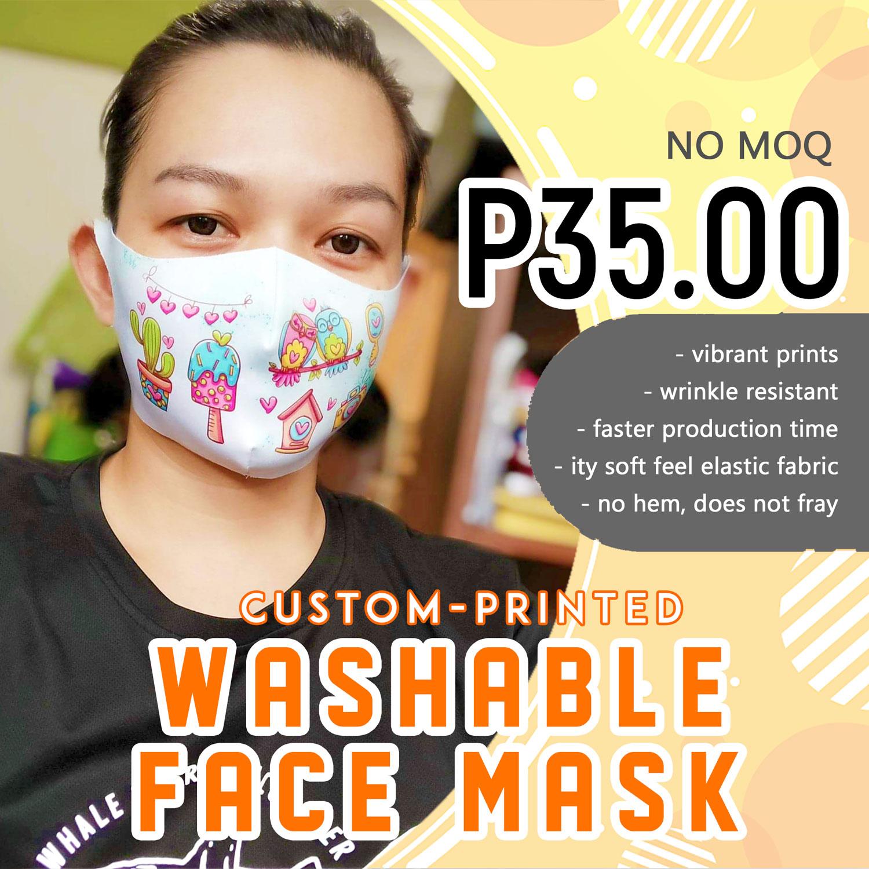 custom-printed washable face mask