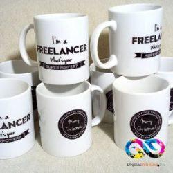white mug printing